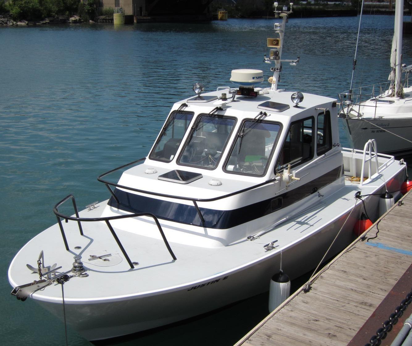 Northern Illinois Marine Dealer: 1990 Boston Whaler Defiance Power Boat For Sale