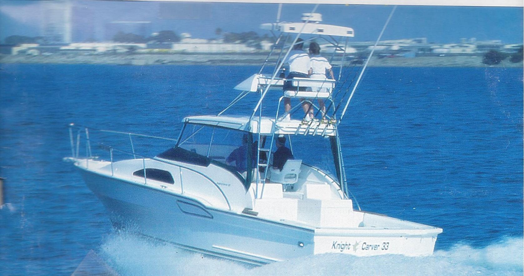 33' Knight & Carver Sportfisher+Boat for sale!
