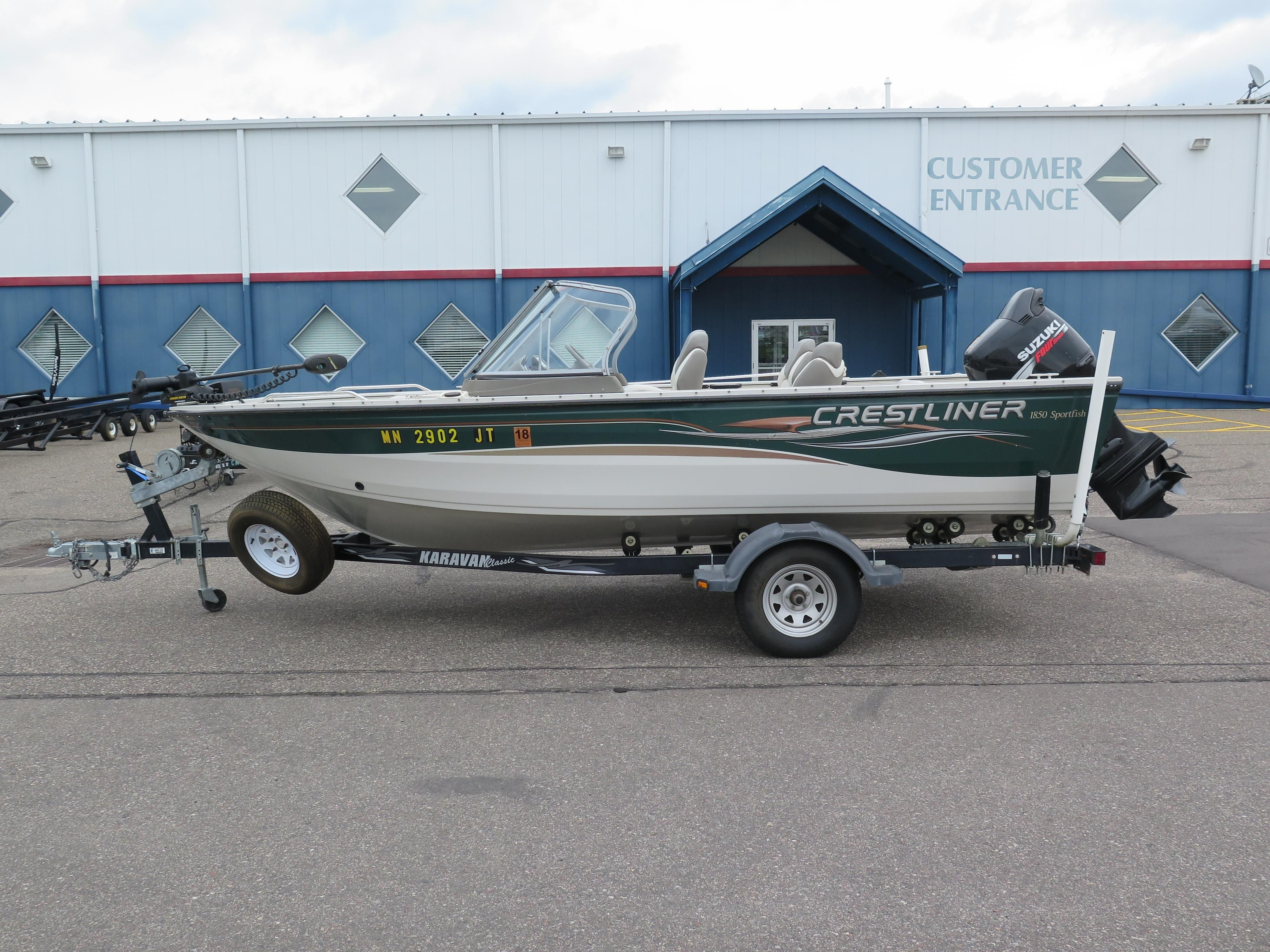 2004 Crestliner 1850 Sportfish Power Boat For Sale Www