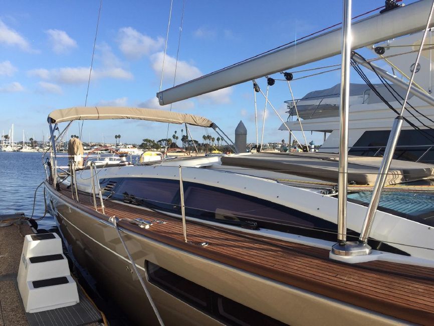 Jeanneau 57 Yacht Sailboat Deck