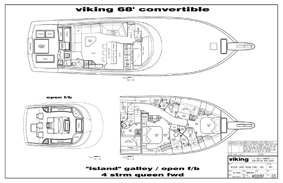 2019 Viking 68 Convertible A motor Barco en venta - www ... on