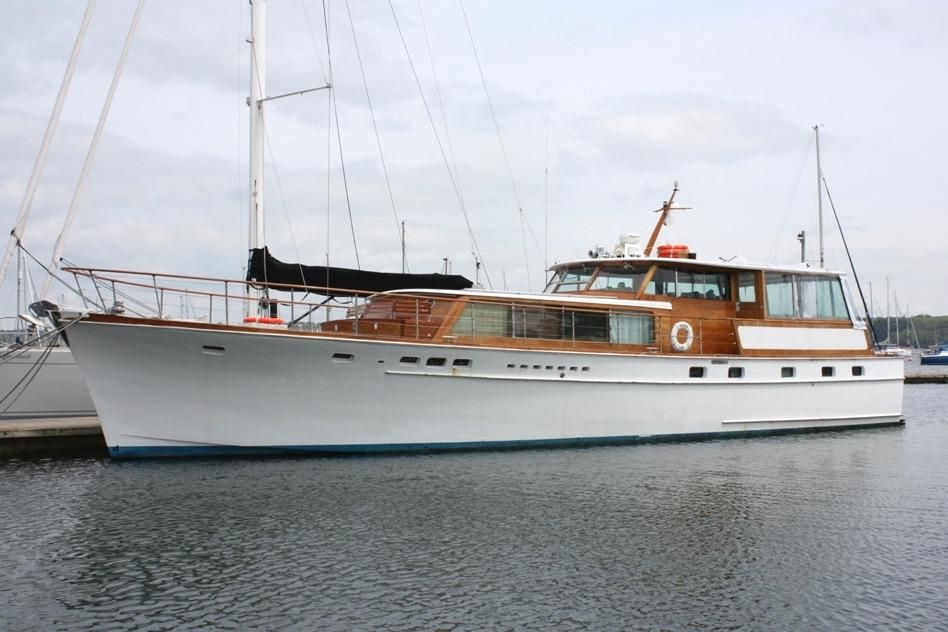 1966 stephens bros 65 39 classic motoryacht power boat for for Vintage motor yachts for sale