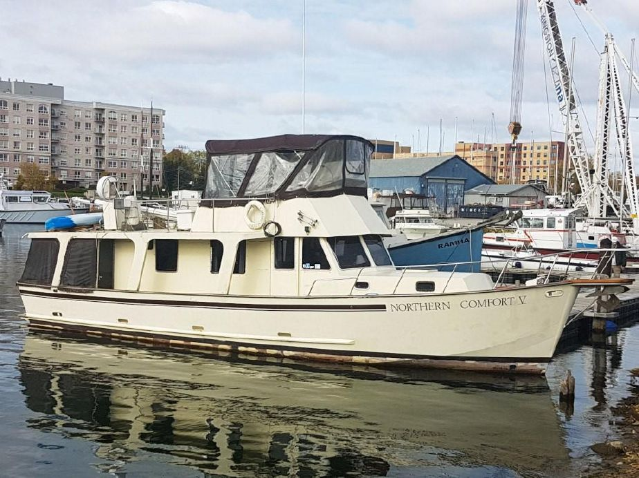 1988 custom wray brown 46 europa trawler