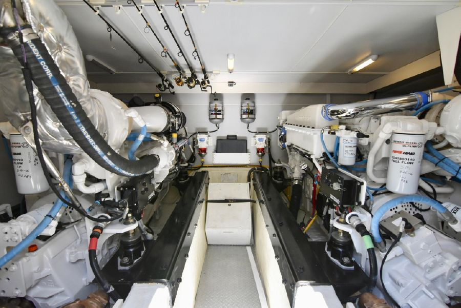 Marquis 59 Pilothouse Engine Room