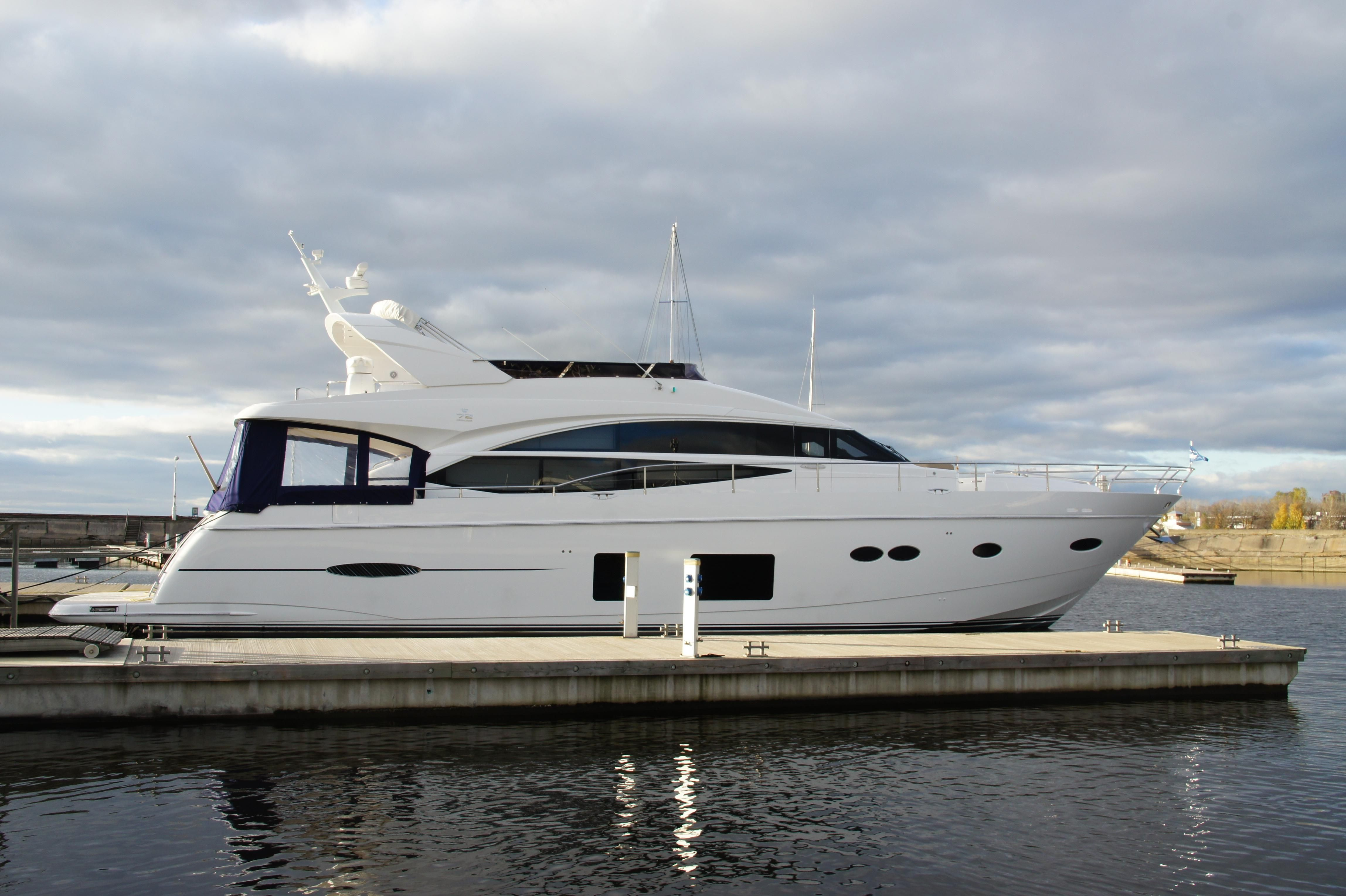 2013 princess 72 motor yacht power boat for sale www for Large motor yachts for sale