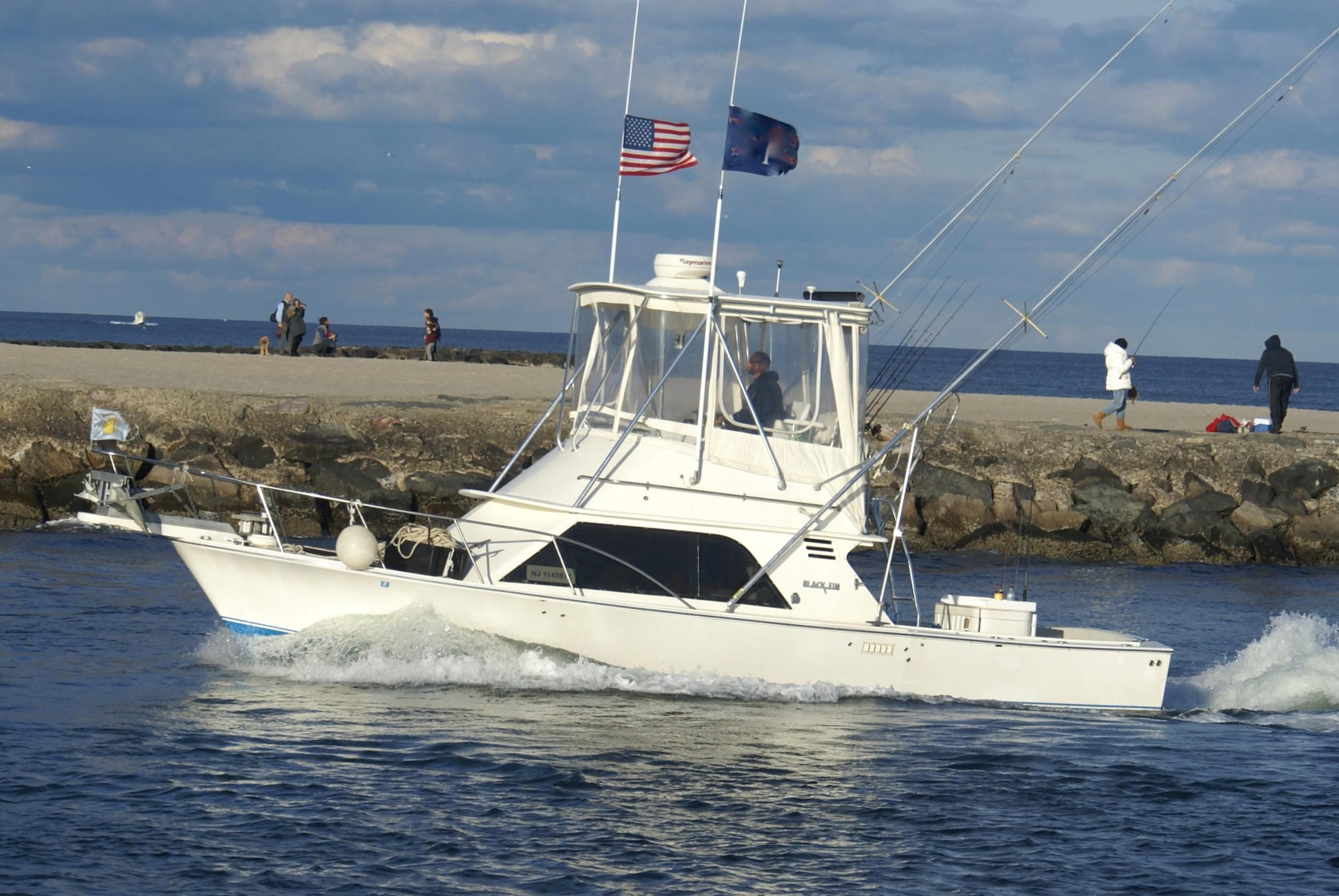 1987 blackfin 32 flybridge power boat for sale www for Belmar nj fishing boats