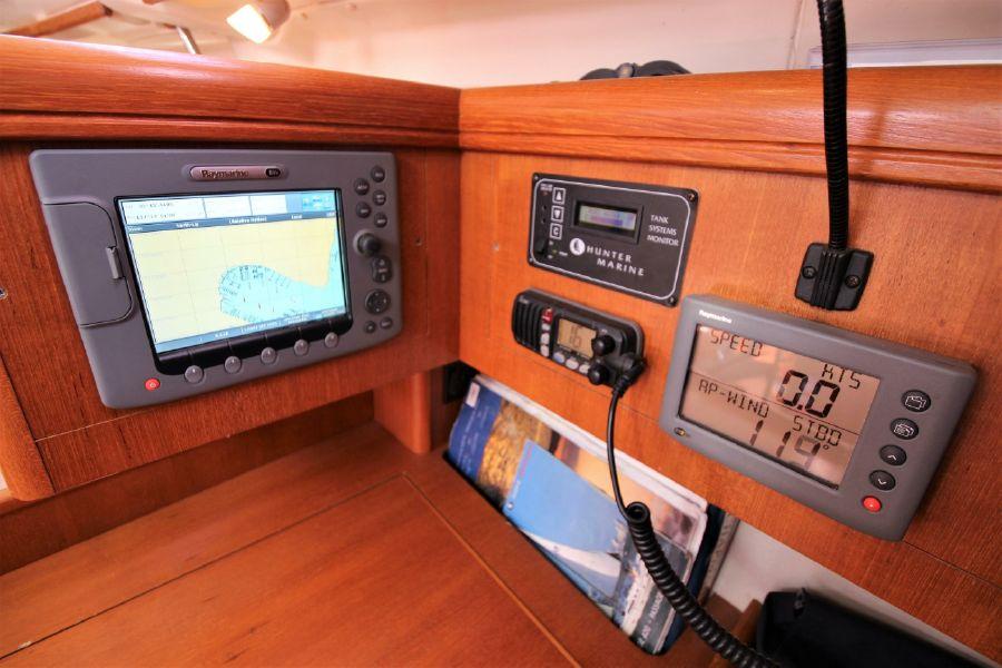 Hunter 456 Sailboat Nav Station