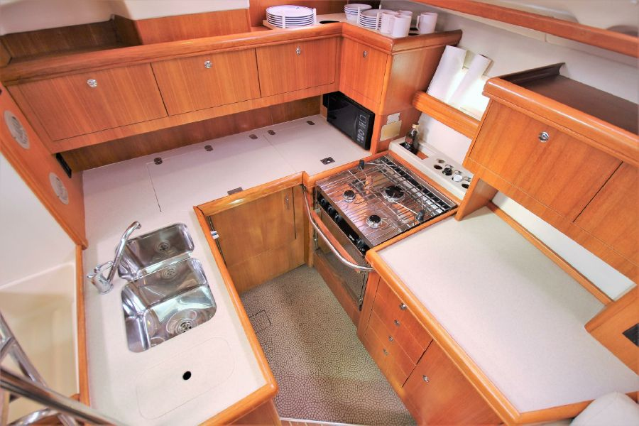 Hunter 456 Sailboat Galley