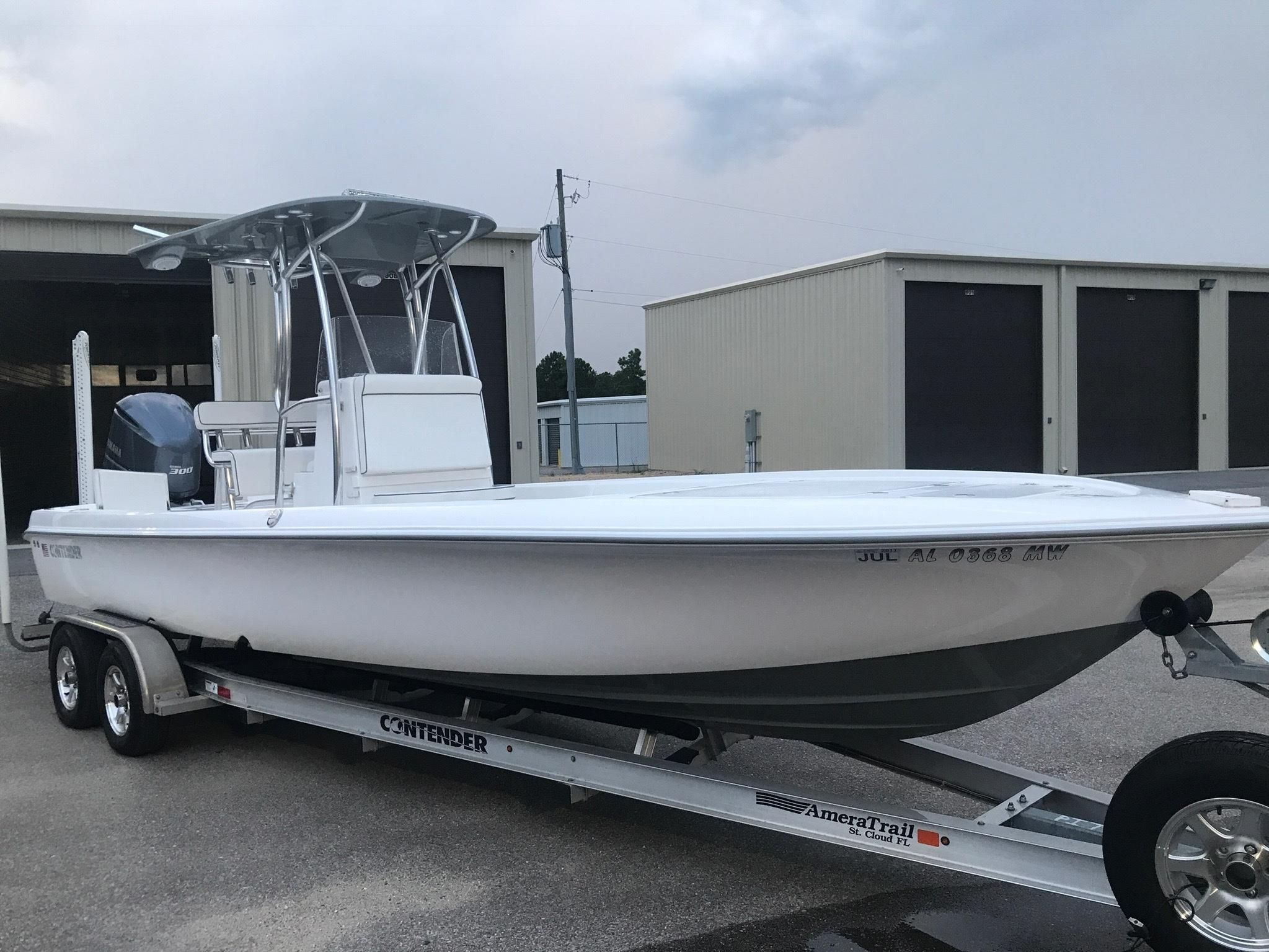 2015 contender 25 bay power boat for sale for Self deploying trolling motor