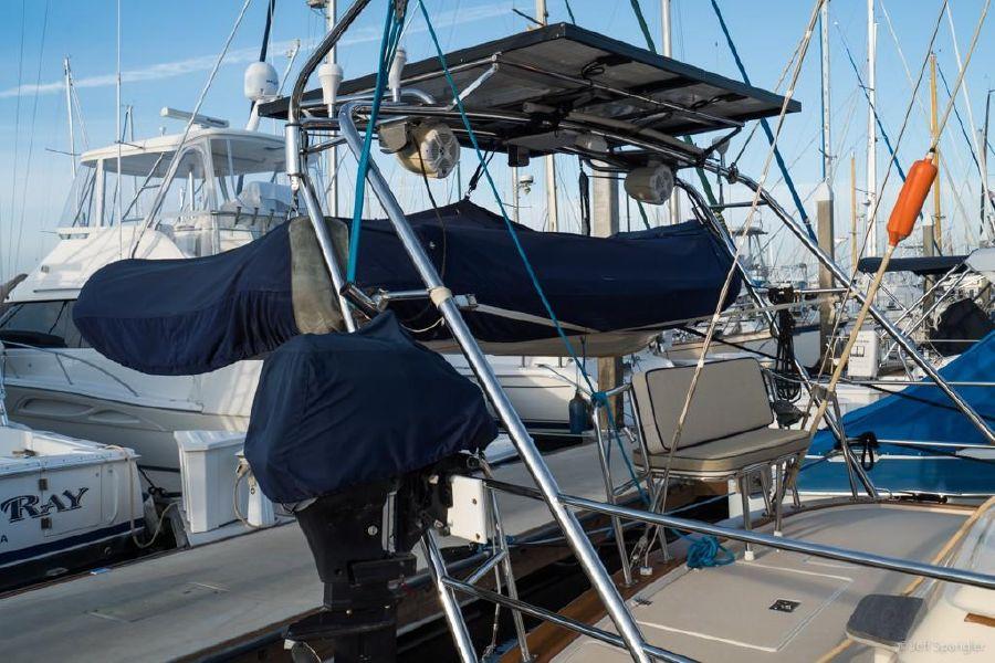 Island Packet 445 Sailboat Davit Solar Rack