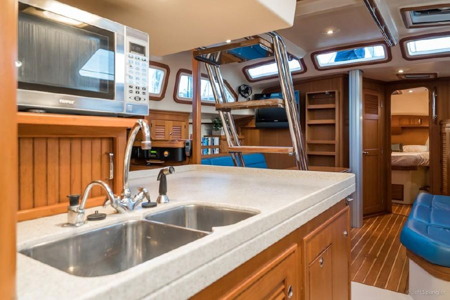 Island Packet 445 Sailboat Galley Sink