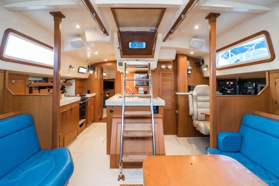 Island Packet 445 Sailboat Salon Interior