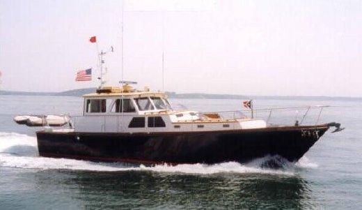 1985 Hunt 44 Falmouth Marine Sedan Express Cruiser