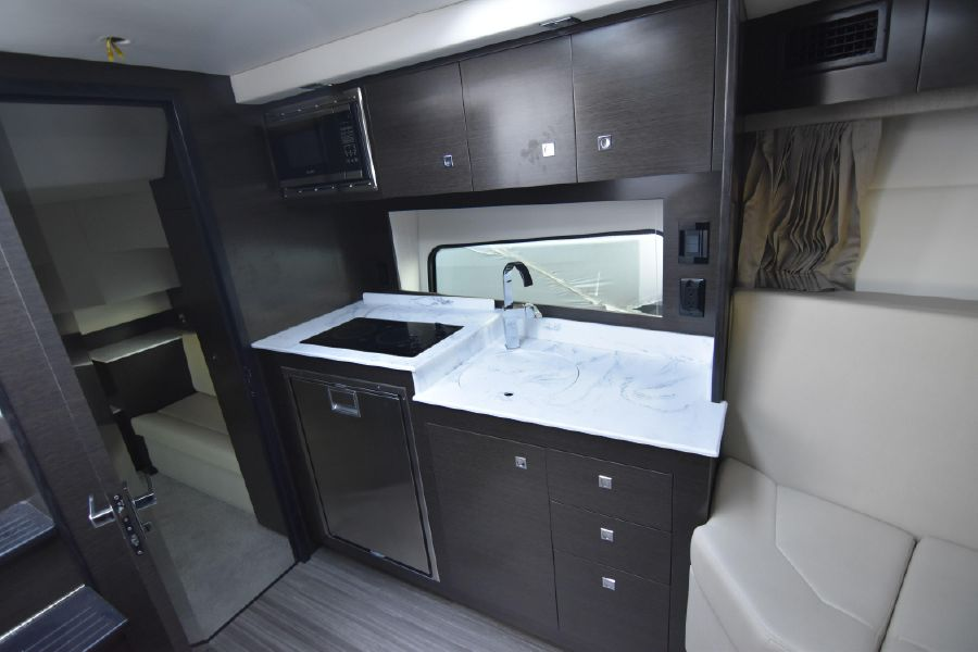 Cruisers Yachts 39 Express Coupe Interior Galley Kitchen