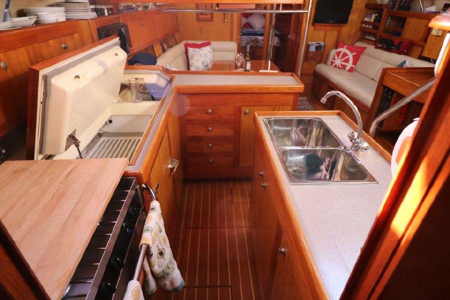 Hunter 460 Sailboat Galley Kitchen