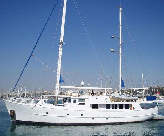 1986 Sutphen Steel Motor Sailer Sail Boat For Sale Www