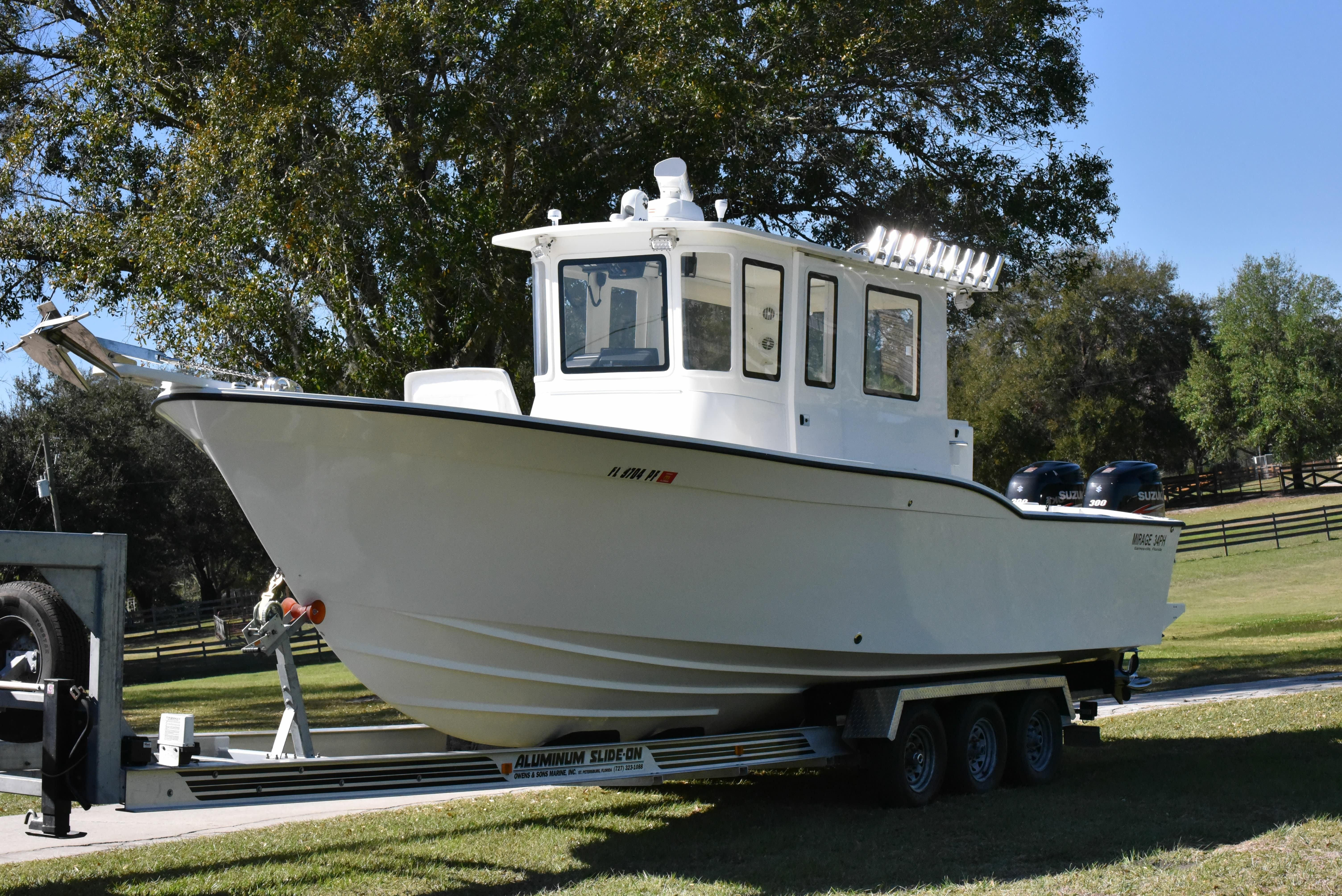 2011 mirage yachts pilot house power boat for sale. Black Bedroom Furniture Sets. Home Design Ideas