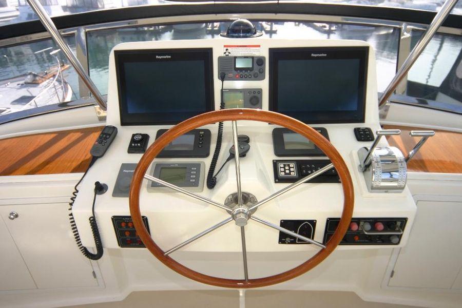 Grand Banks Eastbay 47FB Flybridge Helm Electronics