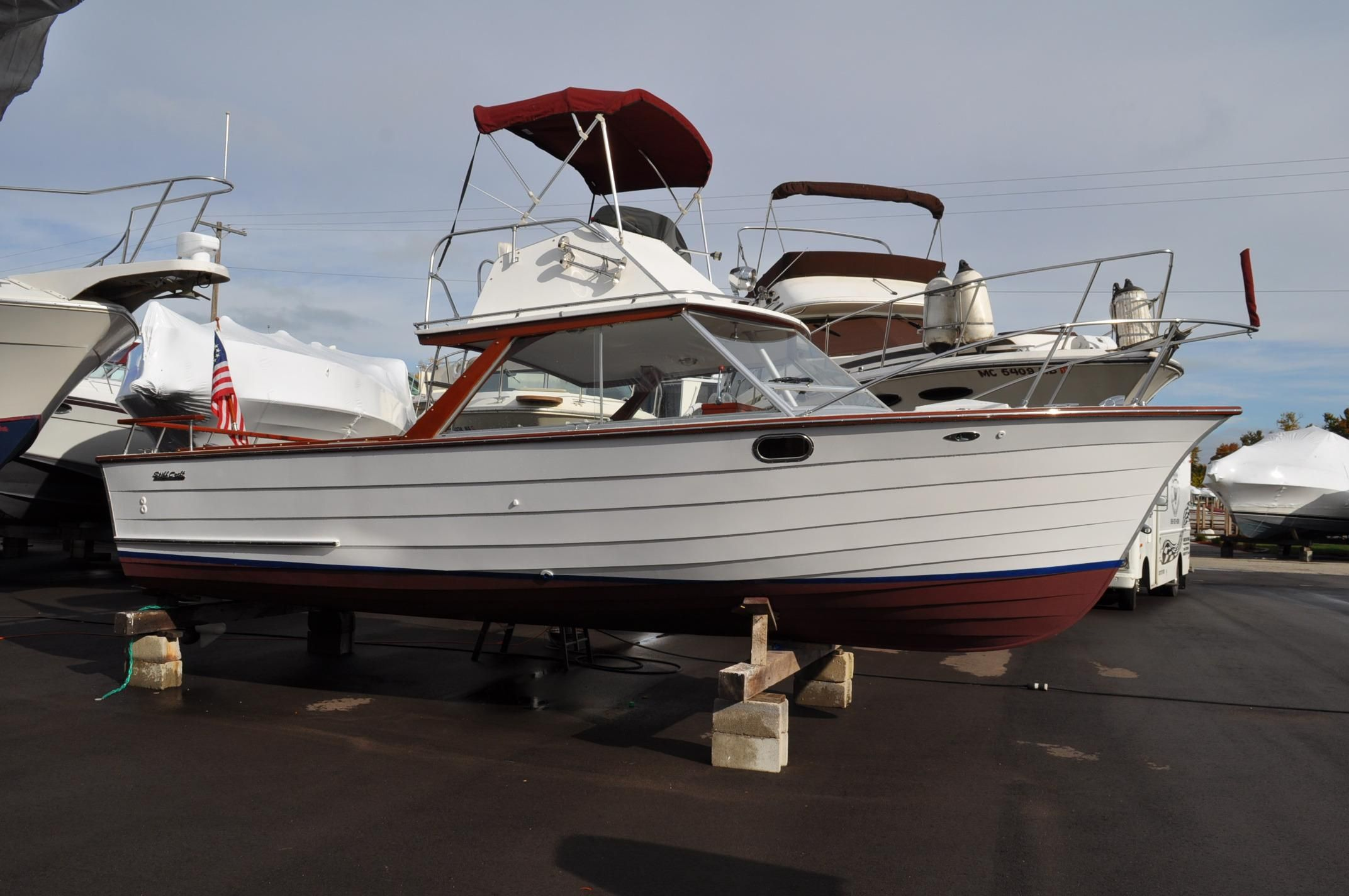 1973 skiff craft 26 flybridge fisherman power boat for for Skiff craft boats for sale