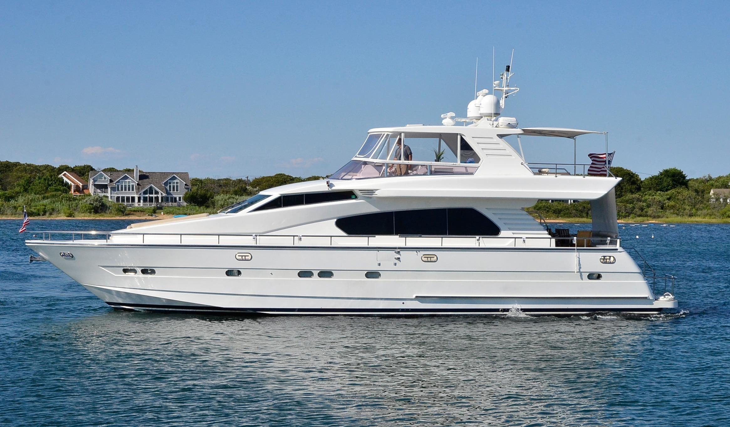 1999 horizon 70 motor yacht power boat for sale www for Large motor yachts for sale