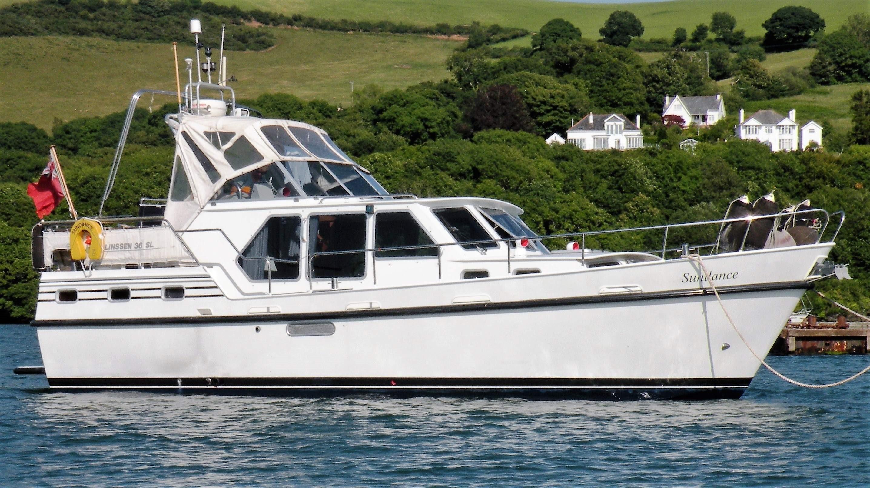1992 linssen 36sl dutch steel cruiser power boat for sale. Black Bedroom Furniture Sets. Home Design Ideas