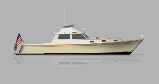 2016 Brooklin Boat Yard 45' Flybridge Cruiser