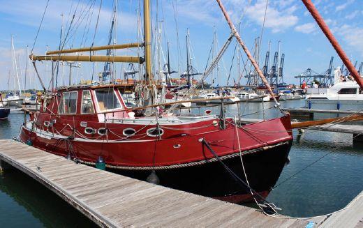 1994 Peter Nicholls Steelboats Huffler 35 Steel Gaff Cutter