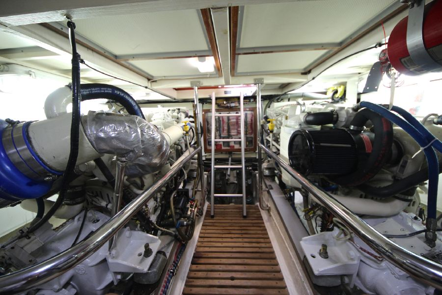 Grand Banks 42 Europa Engine Room