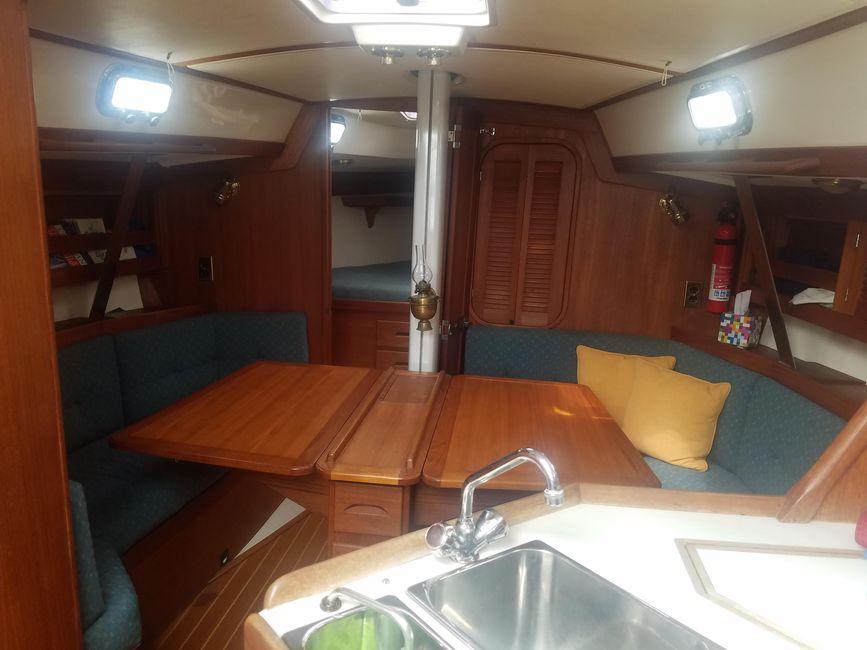 Tartan 3500 Sailboat Interior Salon