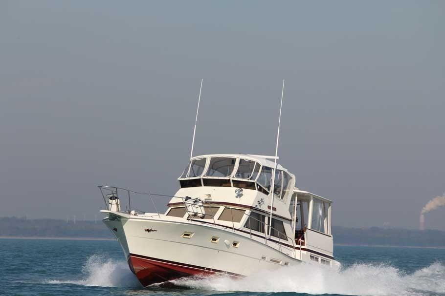 1983 viking 44 double cabin power boat for sale www for Viking 43 double cabin motor yacht