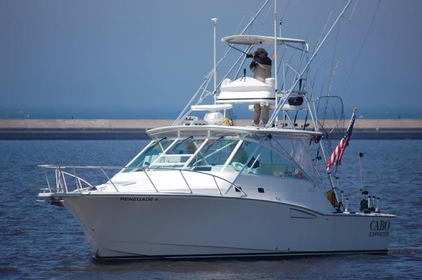 2001 cabo yachts 35 express power boat for sale www for Express fishing boats for sale