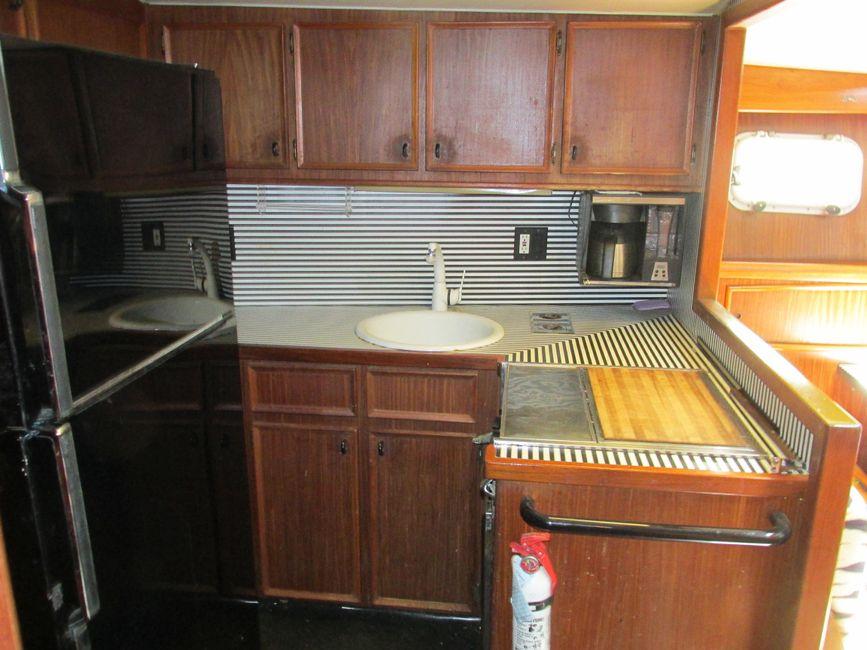 Hatteras 53 Convertible Galley Kitchen