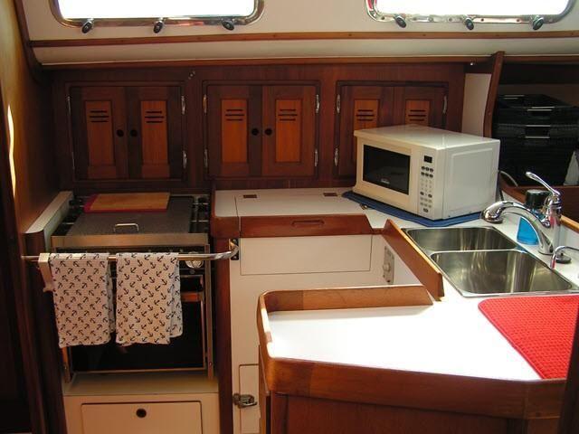 Freedom Yachts 40/40 Galley Kitchen
