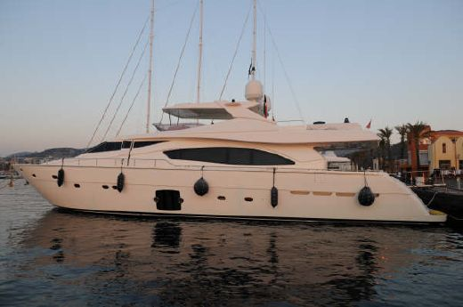 2006 Ferretti Yachts 881 Hard top