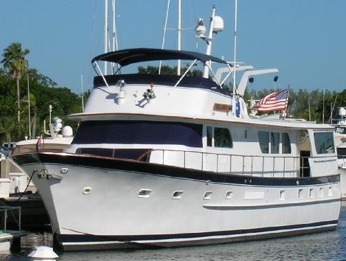 1976 Broward Flybridge Motor Yacht Power Boat For Sale - www