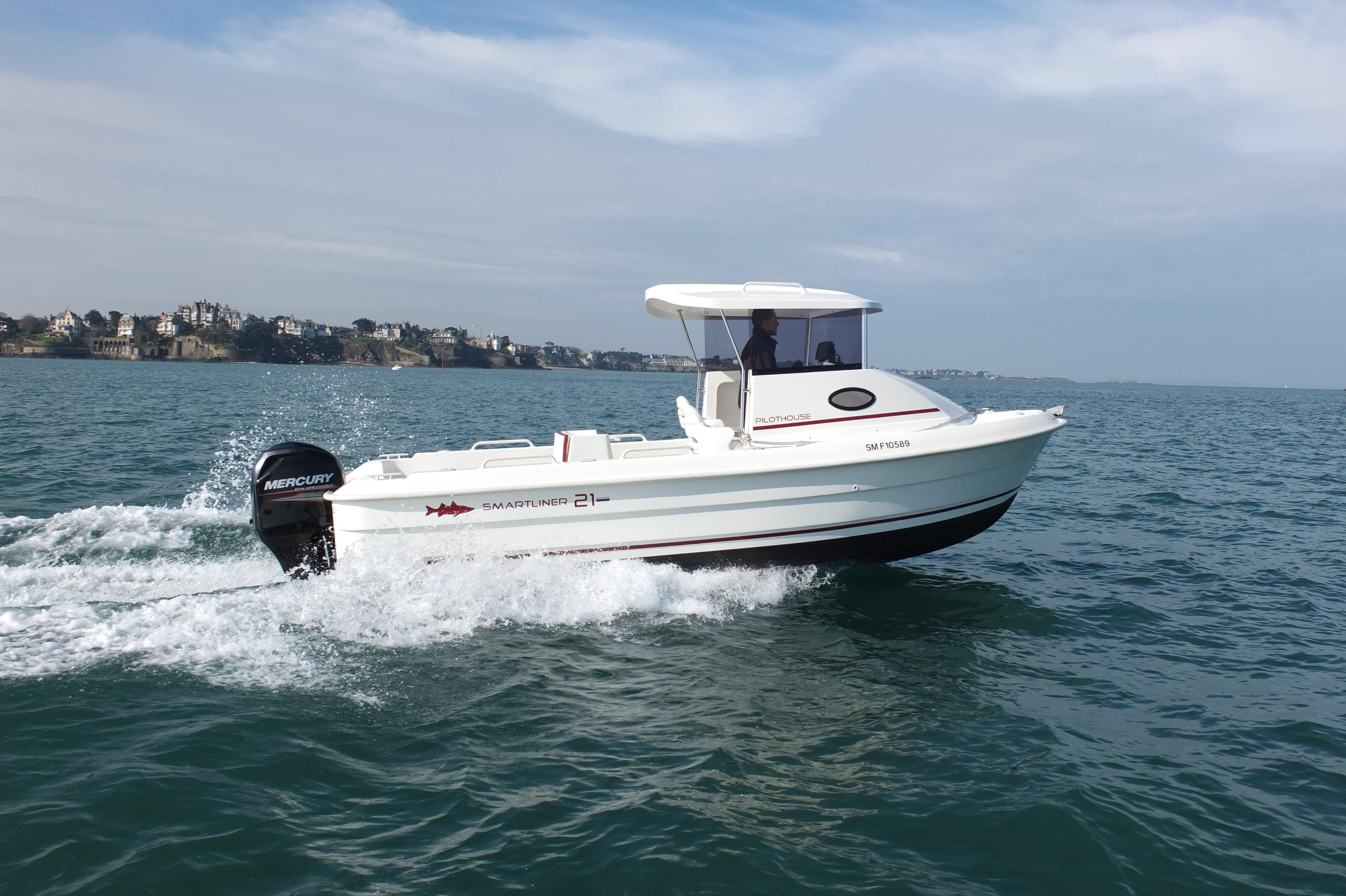 2018 smartliner 21 pilot house power boat for sale www for Pilot house fishing boats