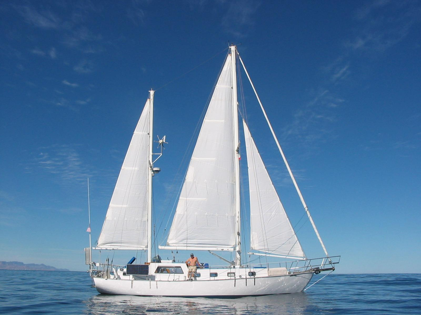 44' Custom C-Smoke Ferrocement Ketch+Boat for sale!