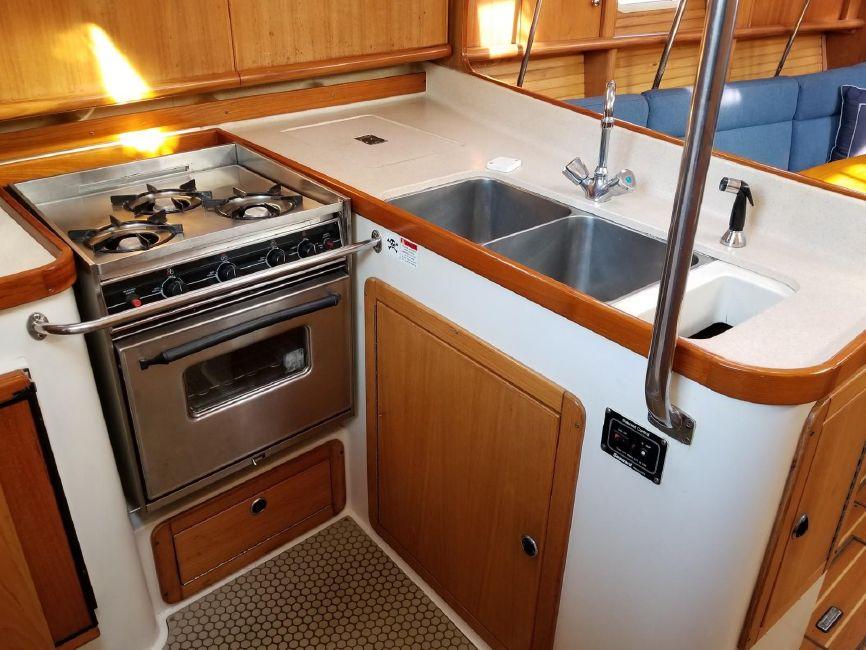 Catalina 390 Galley Kitchen