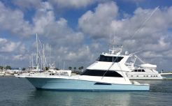 1999 Viking Yachts enclosed bridge