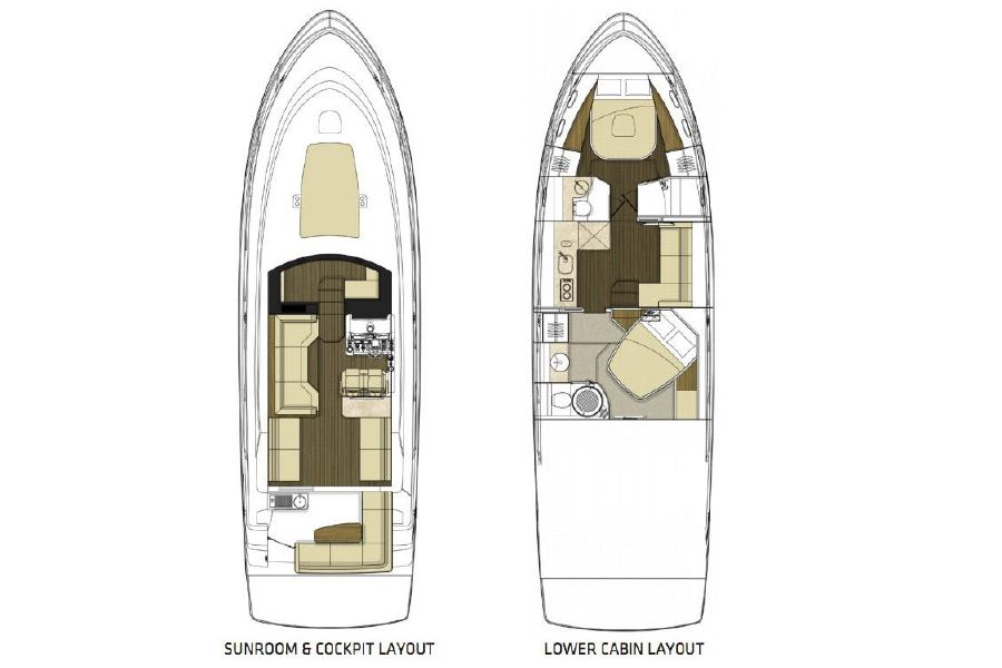 Sea Ray 470 Sundancer Yacht Layout