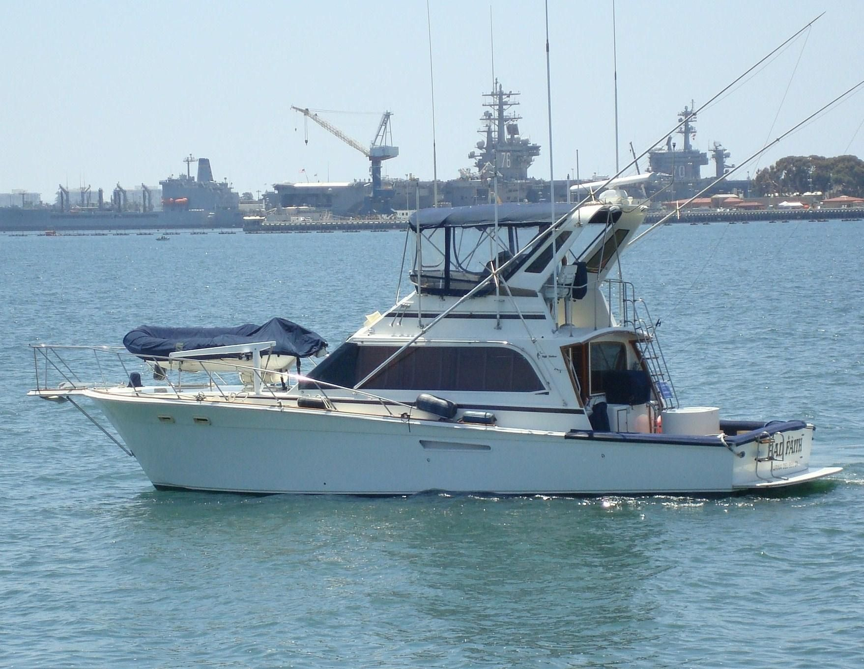 1987 egg harbor sportfisher power boat for sale www for Fishing boats for sale san diego