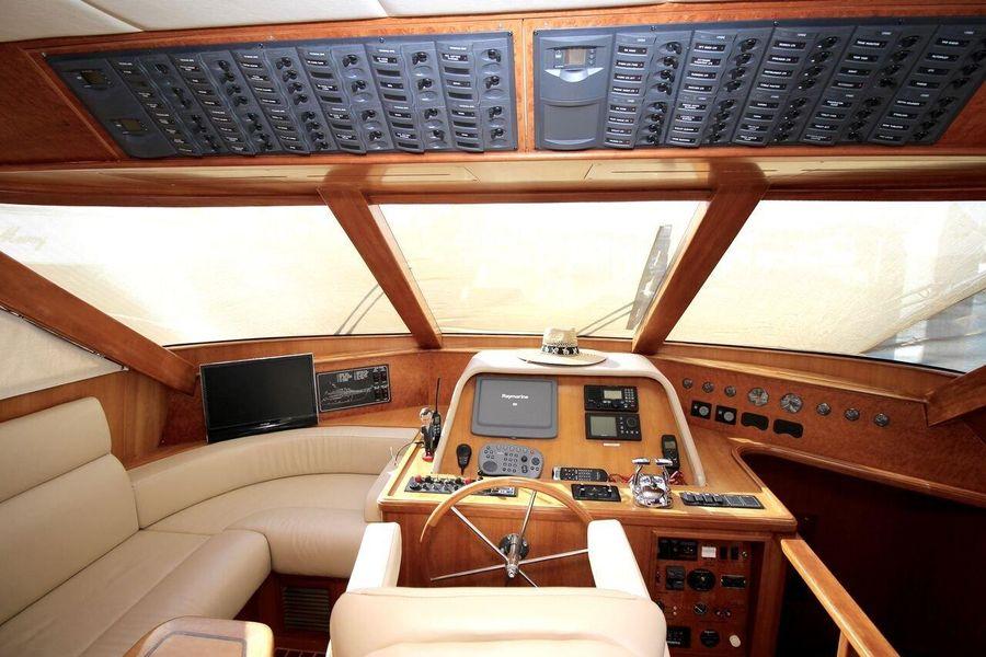 Mckinna 57 Pilothouse Helm Controls