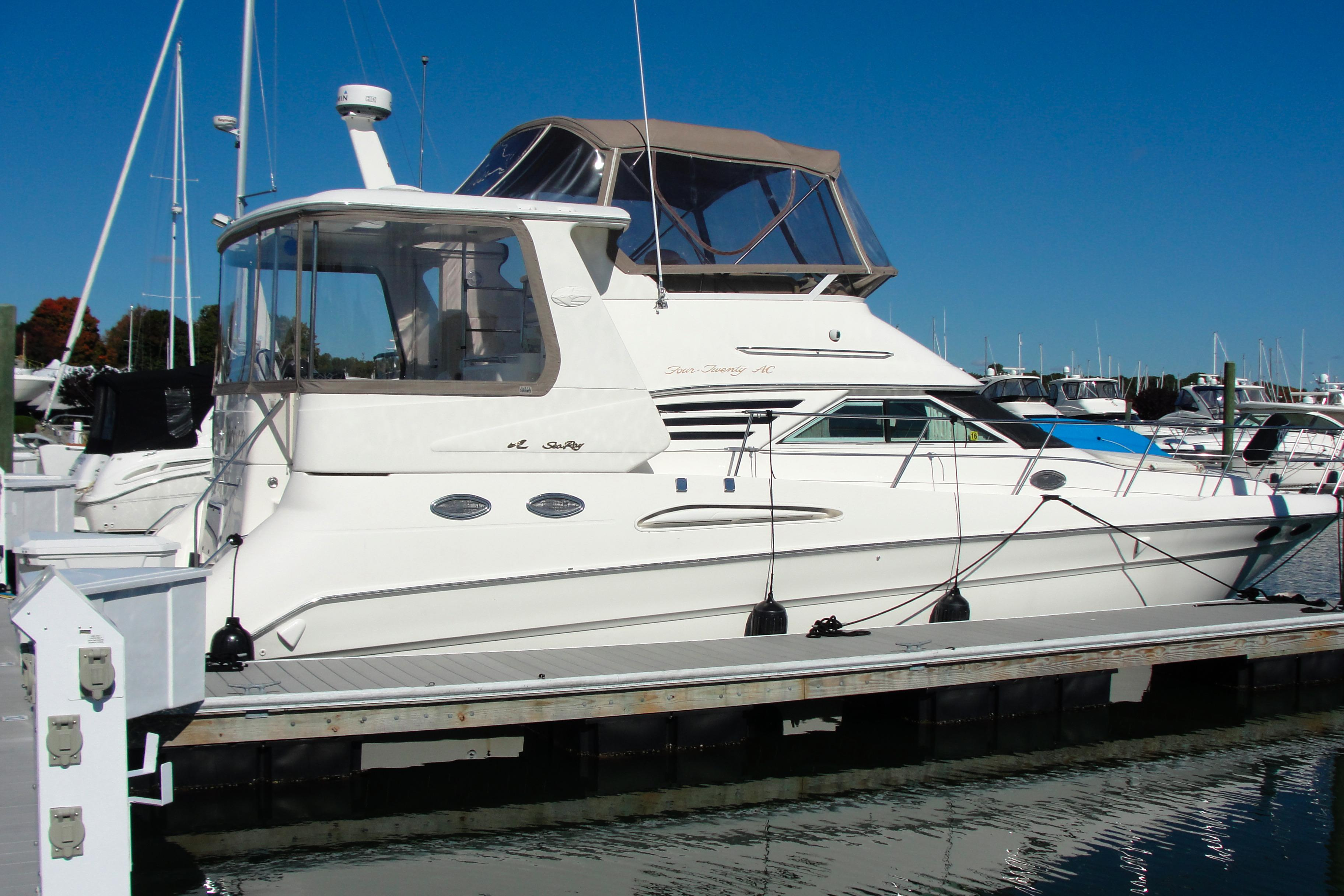 Sea Ray Wiring Diagram 380 Ac Electrical Diagrams 1999 420 Aft Cabin Power Boat For Sale Www Yachtworld Com Evinrude Etec