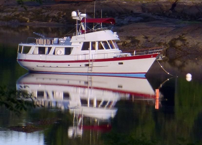 1989 fantail 50 pilothouse trawler with flybridge power for 50 ft motor yachts for sale