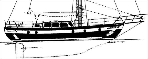 43' Hampton 43 Pilot House Cutter+under sail