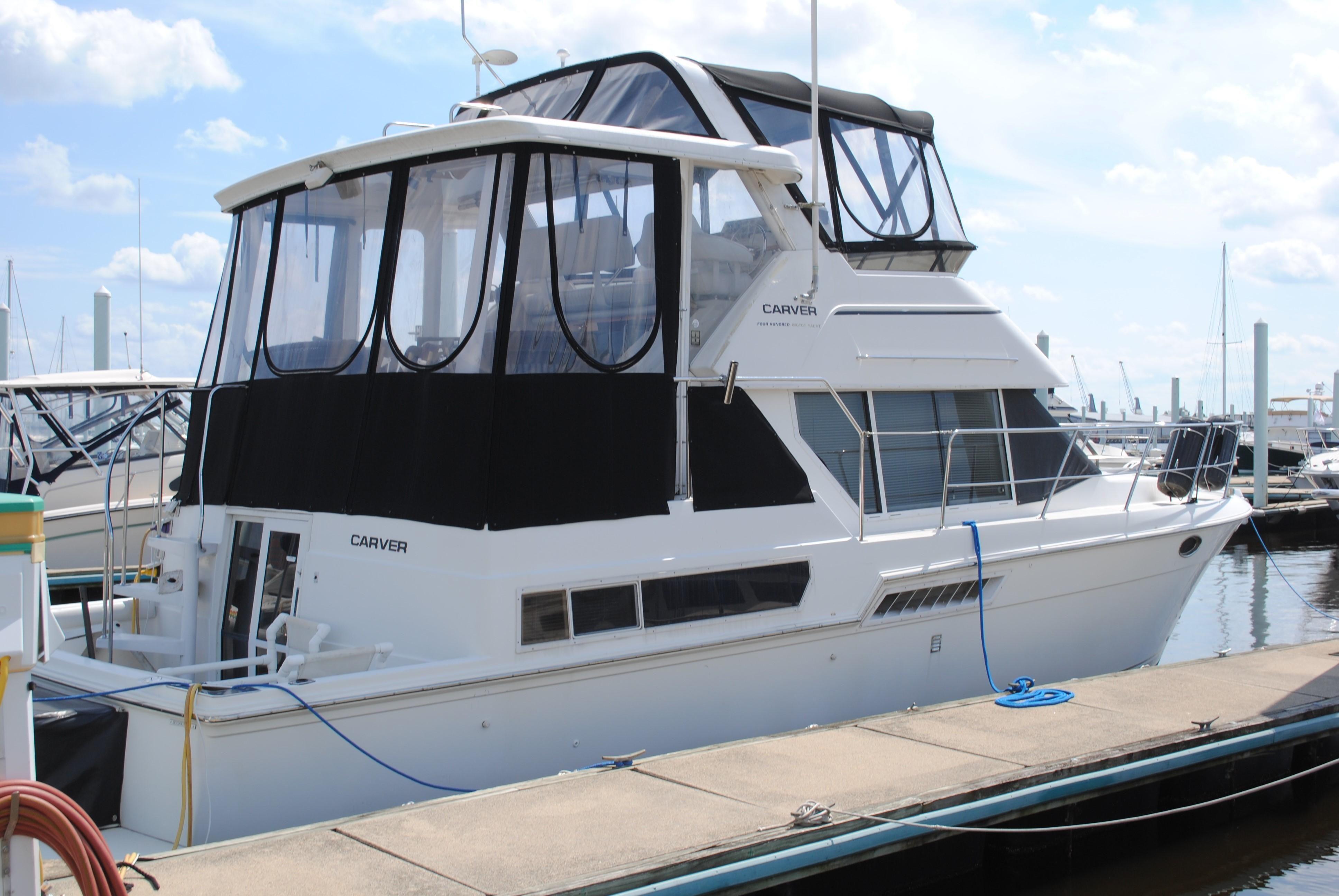 1998 Carver 400 Cockpit Motor Yacht Power Boat For Sale