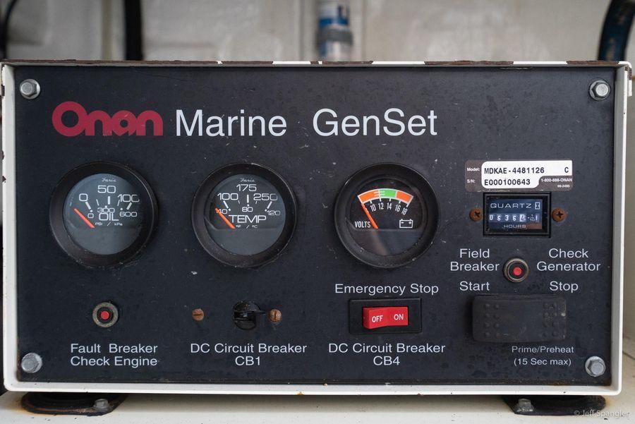 Mckinna 57 Pilothouse Genset Controls