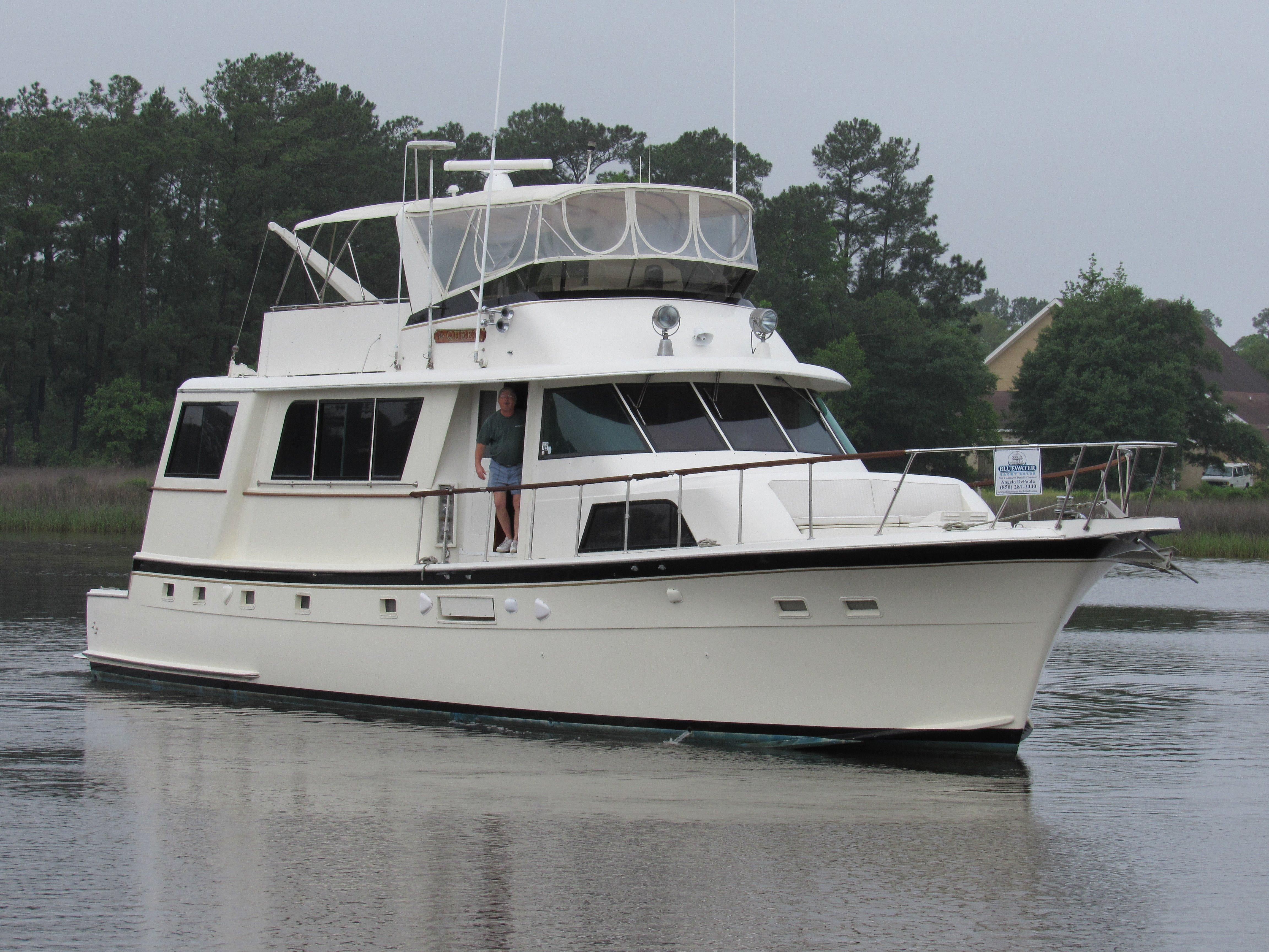 1977 hatteras cockpit motor yacht power boat for sale for Large motor yachts for sale