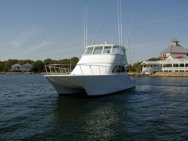 2001 catamaran sportfish 50 convertible yacht for sale for Sport fishing boat manufacturers