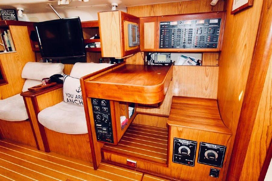 Hunter 460 Sailboat Nav Station